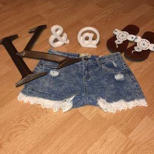 NWT Girls Mudd Jean Shorts
